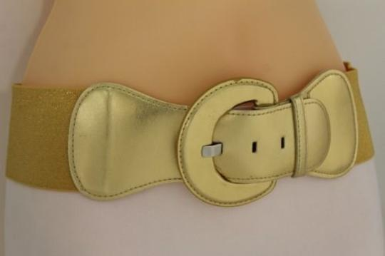 Other Women Fashion Belt Hip High Waist Stretch Gold Big Buckle Plus size