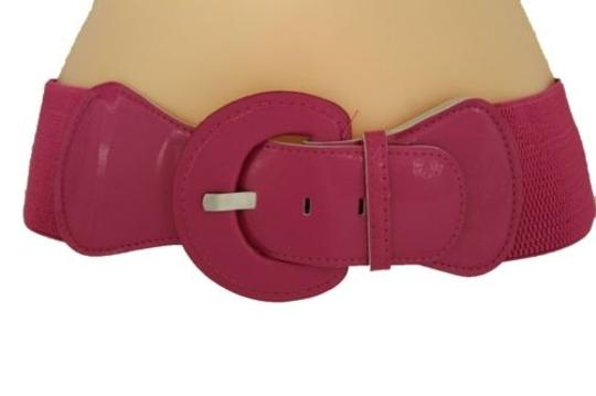 Other Women Fashion Belt Hip High Waist Pink Elastic Band Buckle Plus