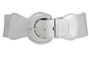 Other Women Fashion Belt Hip High Waist Silver Elastic Big Buckle Plus