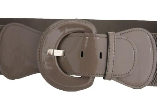 Other Women Fashion Belt Hip High Waist Dark Grey Elastic Buckle Plus