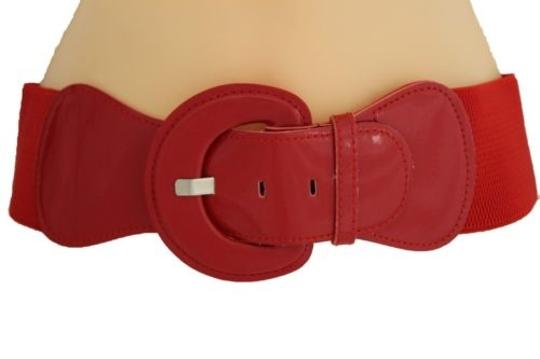 Alwaystyle4you Women Fashion Belt Hip High Waist True Red Elastic Buckle Plus Image 4