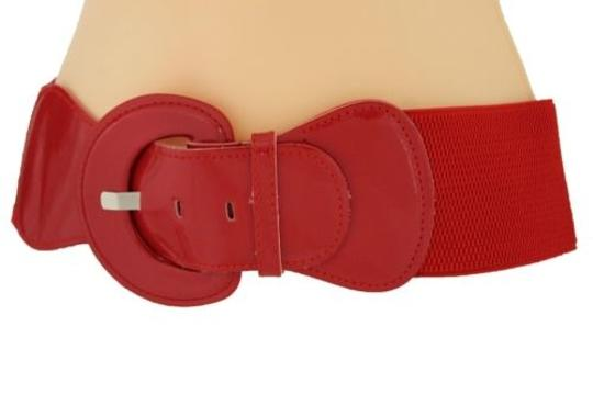 Alwaystyle4you Women Fashion Belt Hip High Waist True Red Elastic Buckle Plus Image 7
