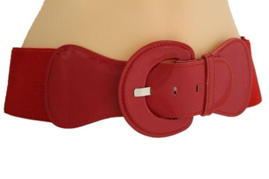 Alwaystyle4you Women Fashion Belt Hip High Waist True Red Elastic Buckle Plus Image 9