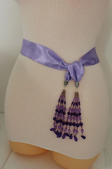 Preload https://item1.tradesy.com/images/women-fashion-belt-long-lavender-tie-fringe-beads-scarf-hip-high-waist-4326805-0-0.jpg?width=440&height=440