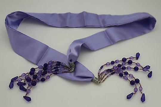 Other Women Fashion Belt Long Lavender Tie Fringe Beads Scarf Hip High Waist