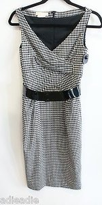 Michael Kors Collection Italy Check Gingham Dress