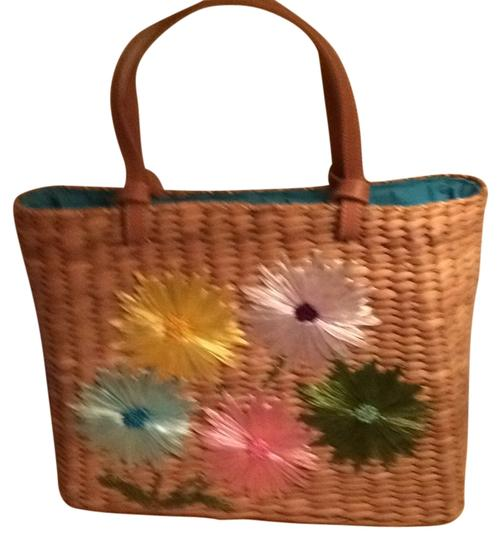 Kate Spade Tote in Wicker/ Pastel Flowers