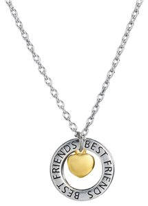 Best friends two tone necklace free shipping