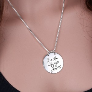 Live The Life You Love Engraved Necklace Free Shipping