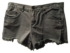 Free People Cut Off Shorts Green