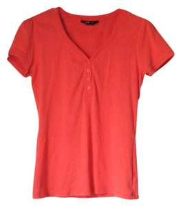 Style & Co Orange Henley Orange Orange Sleeve Henley T Shirt