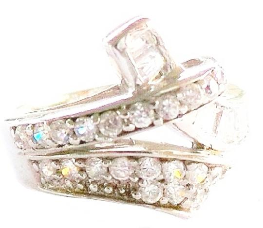 Other Natural White Topaz 925 Sterling Silver Ring 7