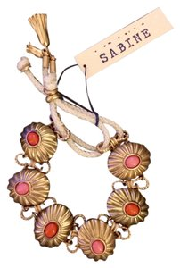 Sabine Sabine Gold and Enamel Cabochon Fashion Bracelet