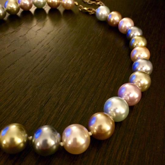 Kenneth Jay Lane Kenneth Jay Lane 2009 Inaugural Simulated Multi-Color Pastel Pearl Necklace
