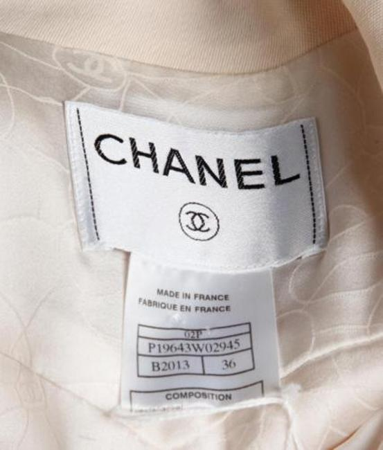 Chanel 02p Womens Wool Cropped Blazer 36us Cream Jacket