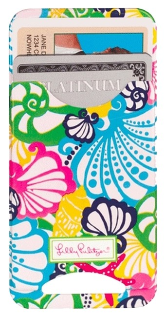 Item - Multi-color Iphone 5 Phone Cell Case Cover with Card Slot Bonita Print Tech Accessory