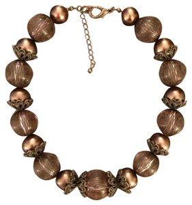 New York & Company Antique Bronze Statement Necklace