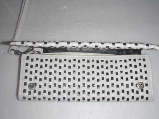 Nine 9 Nine 9 wristlets /cluthes / wallet black and white woven Image 2