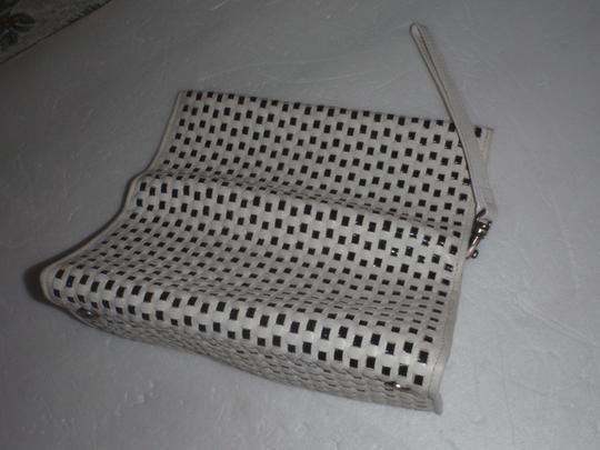 Nine 9 Nine 9 wristlets /cluthes / wallet black and white woven Image 9