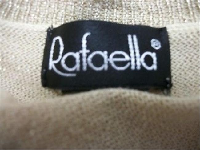 Rafaella Gold Sparkle Rayon Knit Sweater
