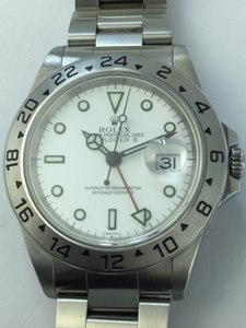 Rolex Rolex Explorer Ii White Dial Mens Stainless Steel Watch 16570