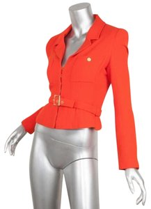 Chanel Blazer Coat Orange Jacket