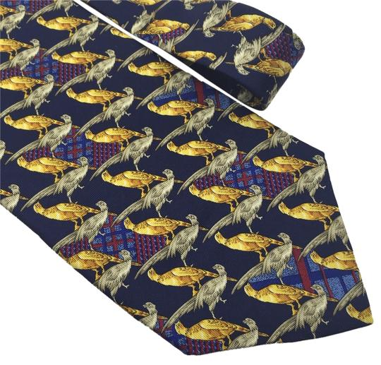 Dior Christian Dior 100% Silk Bird Pattern Necktie