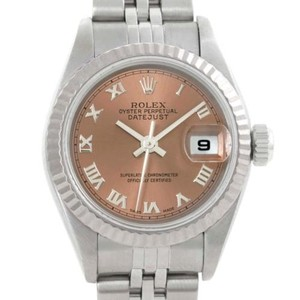Rolex Rolex Datejust Ladies Steel 18k White Gold Bronze Dial Watch 79174