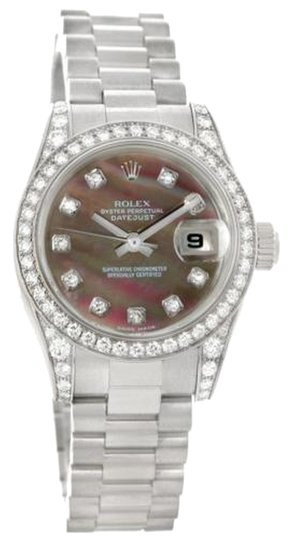 Rolex Rolex President Ladies 18k Gold Mother Of Pearl Diamond Watch 179159