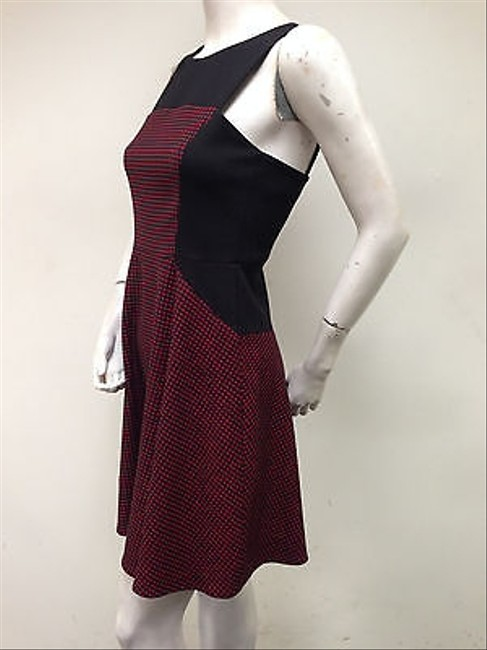 Other Womens Pixel Knit Fit And Flare Red Black With Tags Dress