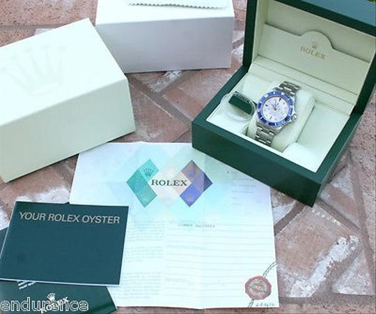 Rolex Rolex Submariner 16610 Mens Watch Diamond And Sapphire Dial With Blue Bezel