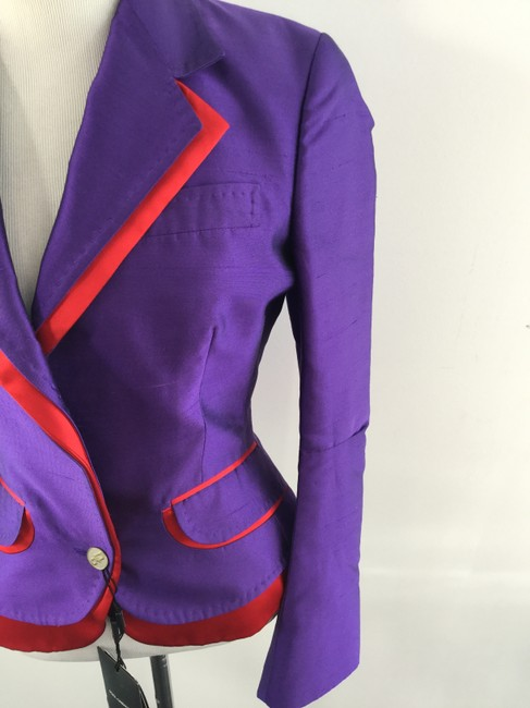 Dolce&Gabbana Dolce Gabbana Purple and Red Blazer