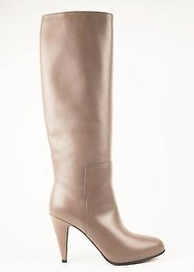 Balenciaga Leather High Heels Taupe Boots