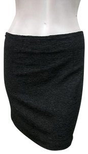 MINKPINK All Over Crinkle Above Knee Straight Skirt Black