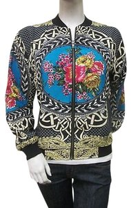 MM Couture Mm By Miss Me Printed Varsity Mmcj0522 Multi-Color Jacket