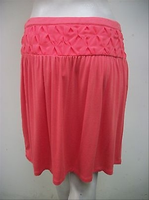Tulle Yoke Coral Straight Style S5339k Skirt Pink