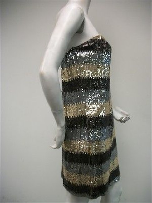 A.B.S. by Allen Schwartz Strapless Cocktail Sequins Style 4x78b44 Dress