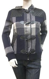 525 America Navy Plaid Coat