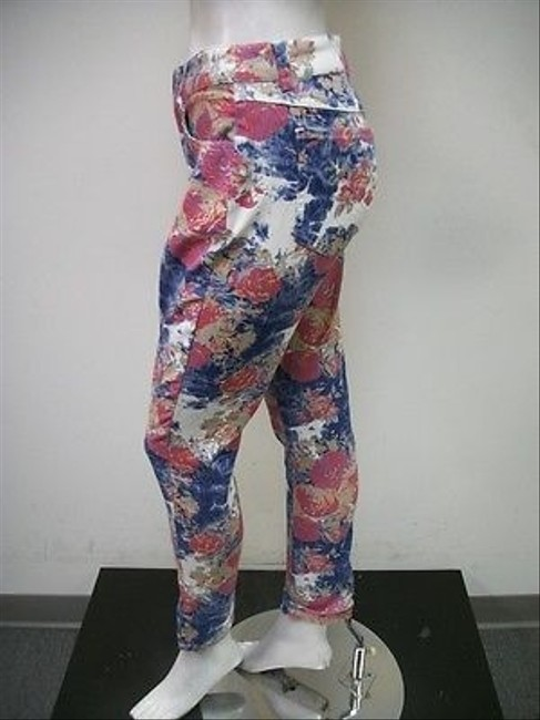 Live A Little Lal Floral Print Skinny Style 20737td Skinny Jeans