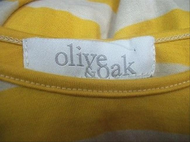 Olive + Oak Golden Heather Oatmeal Striped Lv2s6900 Top Yellow
