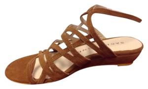 Sacha London Kid Suede Brown Sandals