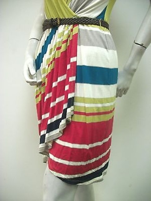 Max and Cleo Stripe Faux Wrap Belted Knit Iih6r709 Dress