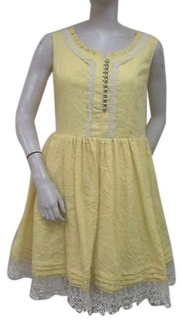 Item - Nick Mo Yellow Sunny Days Best Dress Lace N970z39 Cotton
