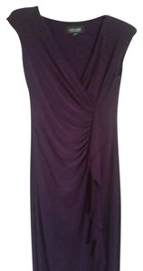 Evan Picone Cascade Faux Wrap Dress