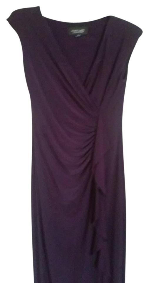147d4ad6725 Evan Picone Purple Black Label Long Night Out Dress Size 8 (M) - Tradesy