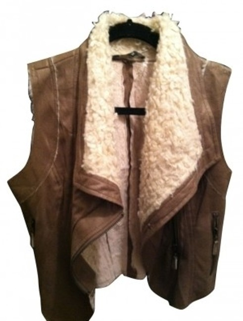 Preload https://item3.tradesy.com/images/foreign-exchange-tan-faux-fur-trim-vest-size-6-s-4357-0-0.jpg?width=400&height=650