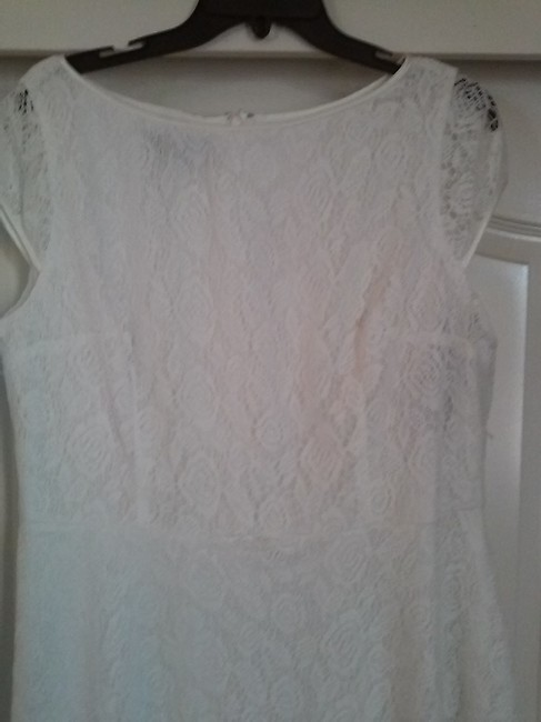 Evan Picone Fit & Flare Lace Dress Image 1
