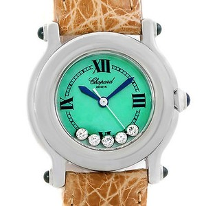 Chopard Chopard Happy Sport Green Mother Pearl Dial Diamond Watch 278245-23