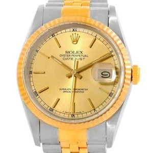 Rolex Rolex Datejust Steel 18k Yellow Gold Jubilee Bracelet Watch 16233
