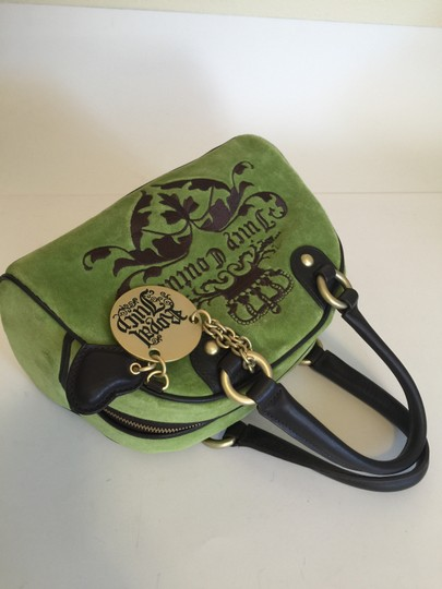 Juicy Couture Tote in Lime green & Brown